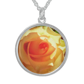 Gelbes Licht-Rosen-Sterlingsilber-Halskette Sterlingsilber Halsketten