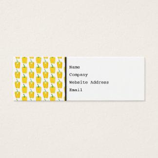 Gelbes Muster der Pfeffer Mini Visitenkarte
