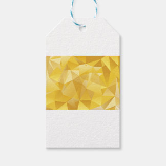 Gelbes Polygon Geschenkanhänger