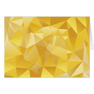 Gelbes Polygon Grußkarte