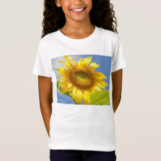 GELBES SONNENBLUME Babydoll-Shirt T-Shirt
