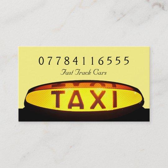 Gelbes Taxi Zeichen Visitenkarte Zazzle At