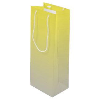 Gelbes u. graues Ombre Geschenktüte Für Weinflaschen