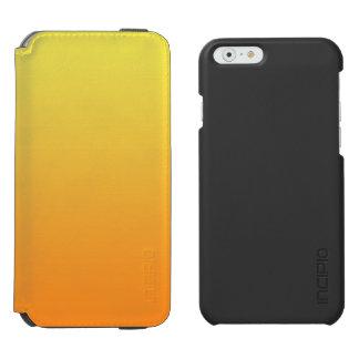 Gelbes u. orange Ombre Incipio Watson™ iPhone 6 Geldbörsen Hülle