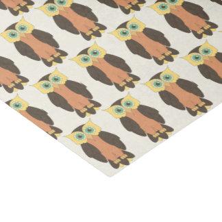 Gelbes und orange Eulen-Seidenpapier Seidenpapier