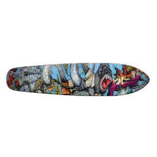 Geld-Dschungel - Kunst-Plattform der Graffiti-Sk8 Skateboard Bretter