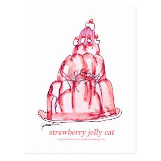 Geleekatze der tony fernandess Erdbeer Postkarte