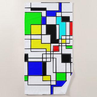 Gelegentliche Quadrat-Ehrerbietung zu Mondrian Strandtuch