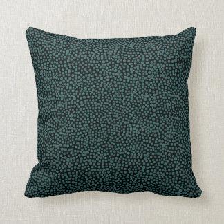 Gelegentliche Stellen - Moosgrün auf Schwarzem Kissen