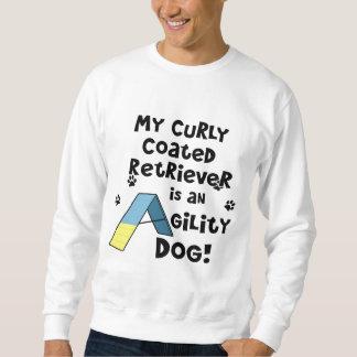 Gelockter überzogener Retriever-Agility-Hund Sweatshirt