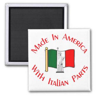 Gemacht auf Amerikaner mit Italiener zerteilt Quadratischer Magnet