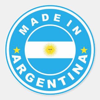 gemacht im Argentinien-Landesflaggeaufkleber Runder Aufkleber