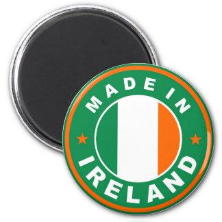 gemacht im Irland-Landesflaggeproduktaufkleber run Runder Magnet 5,1 Cm