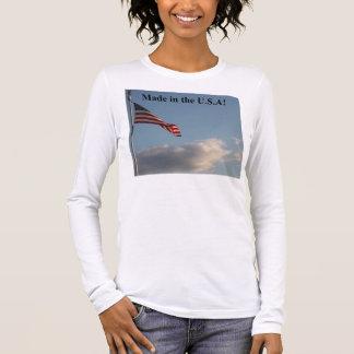 Gemacht im langen die Hülsen-T - Shirt D0003