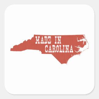 Gemacht im North Carolina Quadratischer Aufkleber