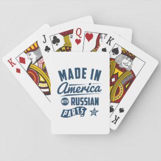 Gemacht in Amerika mit russischen Teilen Spielkarten