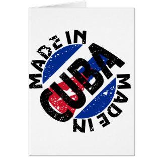 Gemacht in den Kuba-Aufkleber-Mitteilungskarten Karte