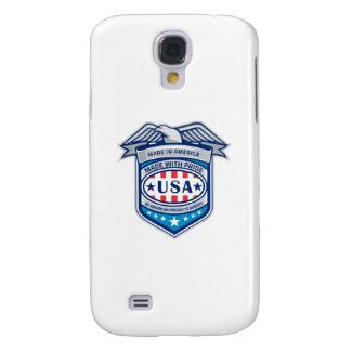 Gemacht in patriotischem Schild Amerikas Eagle Galaxy S4 Hülle