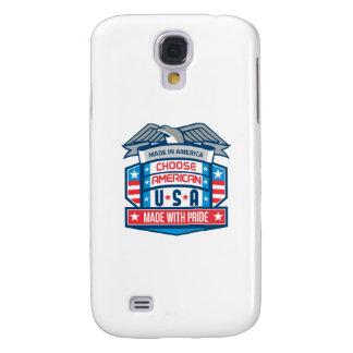 Gemacht in patriotischem Schild Amerikas Retro Galaxy S4 Hülle
