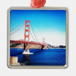Gemacht in San Fransisco Silbernes Ornament