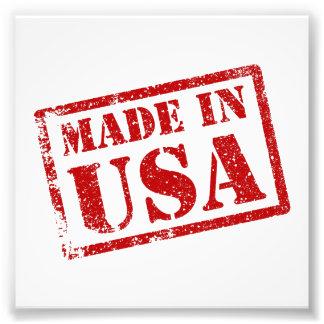 Gemacht in USA, hergestellt in Amerika Fotodruck