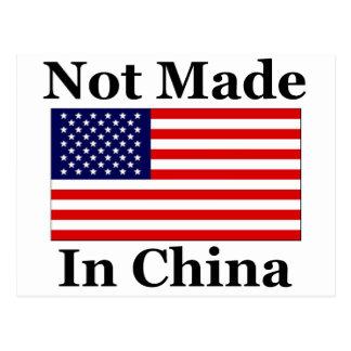 Gemacht nicht in der China - Amerikaner Postkarte
