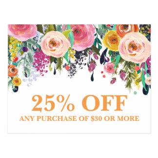 Gemalte BlumenMarketings-Werbeaktion-Postkarte Postkarten