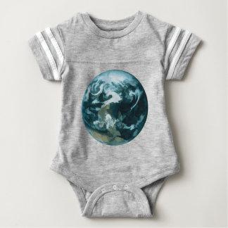 Gemalte Erde Baby Strampler
