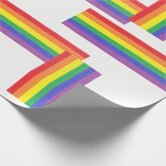 Gemalte Regenbogen-Flagge Geschenkpapier