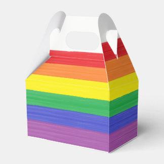 Gemalte Regenbogen-Flagge Geschenkschachtel