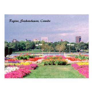 Gemalte Reginagesetzgebungsgärten Postkarte