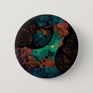 Gemalte Rosen Runder Button 5,7 Cm