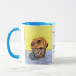 Gemalte Schokoladen-Chip-Muffin-Keramik-Tasse Tasse