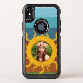 Gemalte Sun-Foto-Schablone OtterBox Commuter iPhone X Hülle