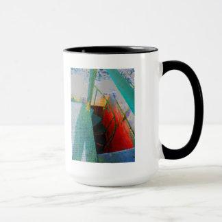 gemalte Treppe Tasse