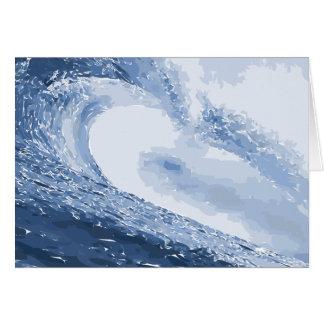 Gemalte Wellen-Wasser-Ozean-Kräuselung Grußkarte