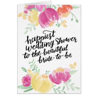 Gemalter glücklichster Polterabend der Duschen-| Grußkarte