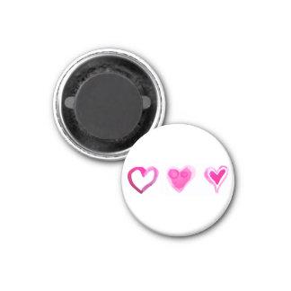 Gemalter Herz-Magnet Runder Magnet 2,5 Cm