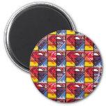 Gemaltes Schild-Muster Runder Magnet 5,7 Cm
