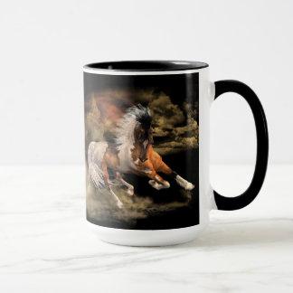 Gemaltes Wüsten-Schwarzes 15 Unze-Tasse, Tasse
