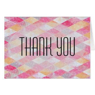 Gemarmorte rosa Raute danken Ihnen Mitteilungskarte