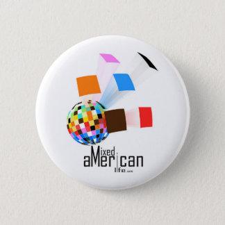 Gemischtes amerikanisches Leben Runder Button 5,1 Cm
