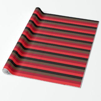 Gemischtes Schwarzes zum Rot Einpackpapier