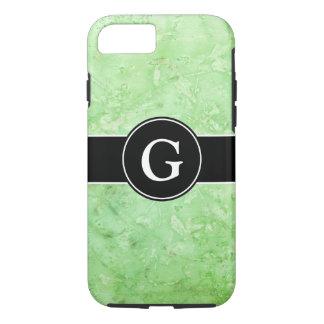 Gemischtes tadelloses grünes mit Monogramm iPhone 7 Hülle