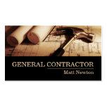 General Contractor Builder Manager Construction Visitenkartenvorlagen