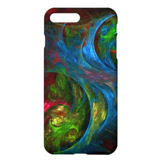 Genese-blauer abstrakter Kunst-Lech iPhone 7 Plus Hülle