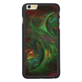 Genese-grüne abstrakte Kunst Carved® Maple iPhone 6 Plus Hülle