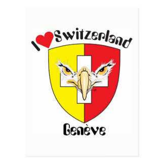 Genf - Genève Schweiz Postkarte