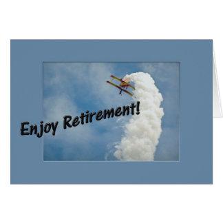 Genießen Sie Ruhestand! Flugzeug-Trick-Flugzeug Karte