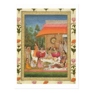 Genießende Damen, vom kleinen Clive Album Postkarte